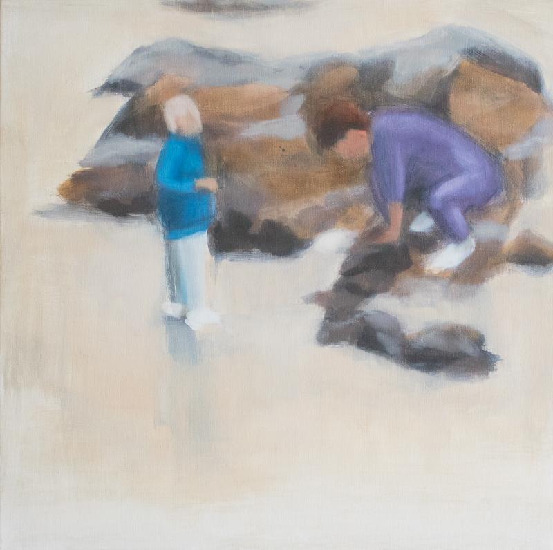 Schilderij Toen 1 door Jonne Nabuurs, olieverf op doek, 50 bij 50 centimeter