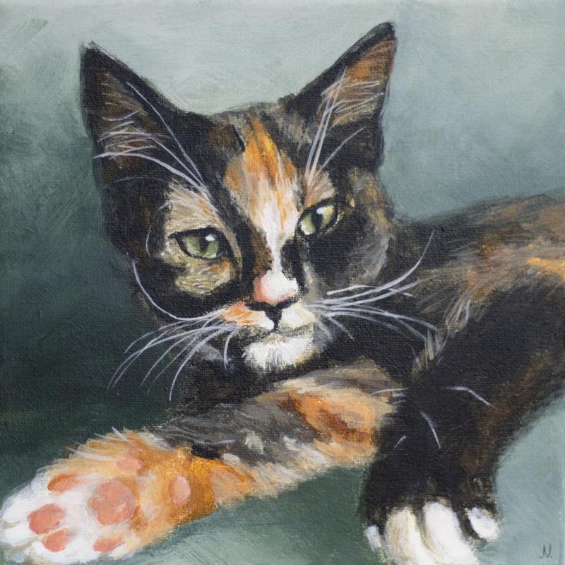 Schilderij Lizzy door Jonne Nabuurs, acryl op doek, 20x20 cm